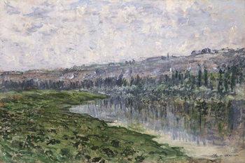 The Seine and the Hills of Chantemsle; La Seine et les Coteaux de Chantemsle, 1880 Kunstdruk