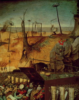 The Triumph of Death, c.1562 (oil on panel) Reproduction de Tableau