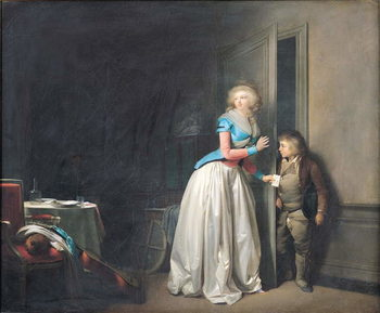 The Visit Received, 1789 Reproduction de Tableau