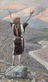 The Voice in the Desert, illustration for 'The Life of Christ', c.1886-96 Kunsttryk