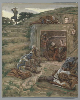 Reproducción de arte The Watch Over the Tomb, illustration from 'The Life of Our Lord Jesus Christ', 1886-94