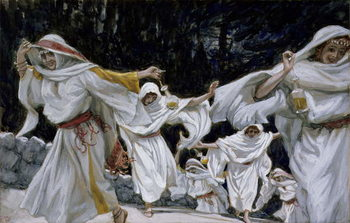 The Wise Virgins, illustration for 'The Life of Christ', c.1886-94 Reproduction de Tableau