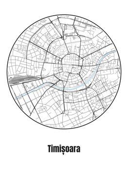 Mapa de Timișoara