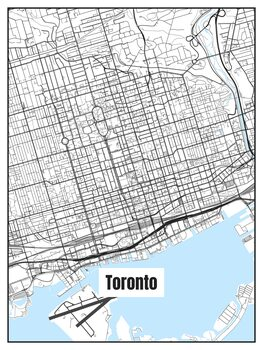 Stadtkarte von Toronto