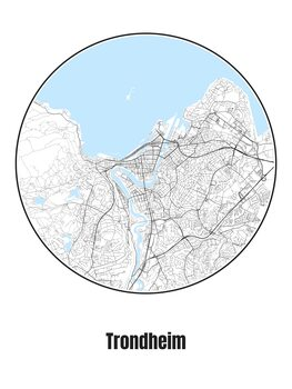 Mapa de Trondheim