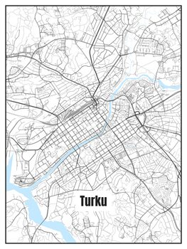 Stadtkarte von Turku
