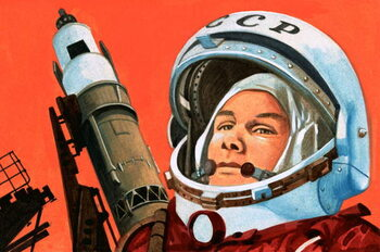 Unidentified Russian cosmonaut Kunstdruck