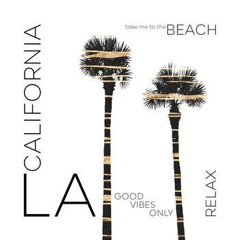 Ilustrácia Urban Art LA Palm Trees