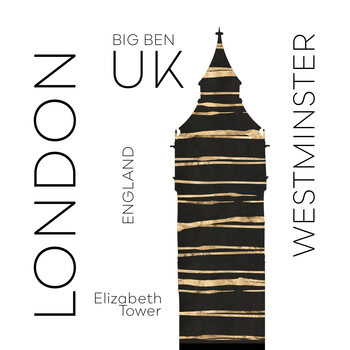 Ilustrácia Urban Art LONDON Big Ben