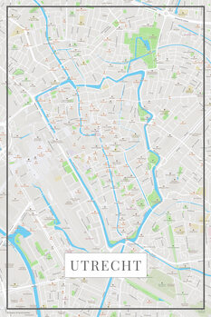Mapa Utrecht color