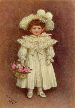 'Vera Evelyn Samuel', 1896 by Kate Greenaway Kunstdruk