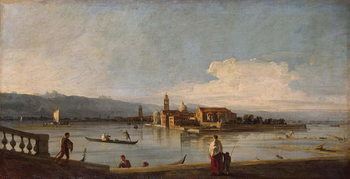 Reproducción de arte View of the Isles of San Michele, San Cristoforo and Murano, from the Fondamenta Nuove, c.1725-28