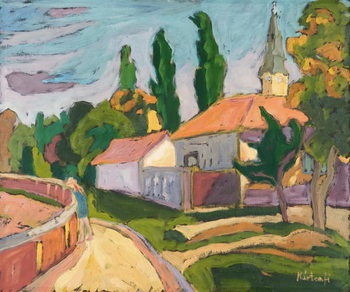 Village Mood, 2008 Reproduction de Tableau