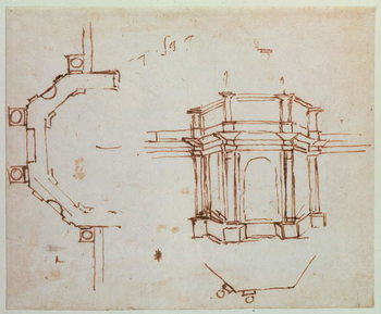W.24r Architectural sketch Reproduction de Tableau