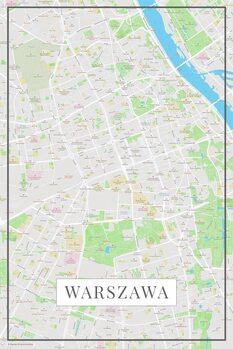 Mapa de Warszawa color