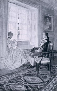 Reproducción de arte Washington and Mary Philipse, illustration from 'Colonel Washington' by Woodrow Wilson, pub. in Harper's Magazine, 1896