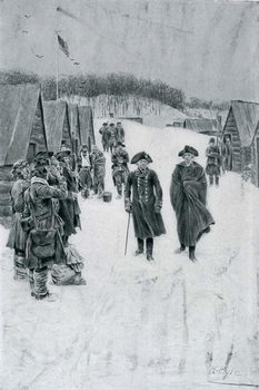 Washington and Steuben at Valley Forge, illustration from 'General Washington' by Woodrow Wilson, pub. in Harper's Magazine, July 1896 Kunstdruk