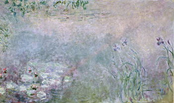 Reproducción de arte Waterlilies (detail of upper section), c.1910