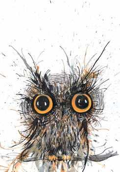 Wide eyed Owl, 2012, Kunstdruck