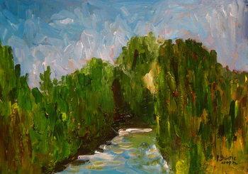 Winding river, 2009 Kunstdruck