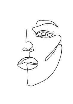 Illustration Woman face 2