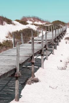 Arte fotográfico Wooden Pier on the Beach