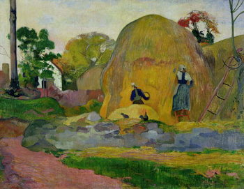 Yellow Haystacks, or Golden Harvest, 1889 Kunsttryk