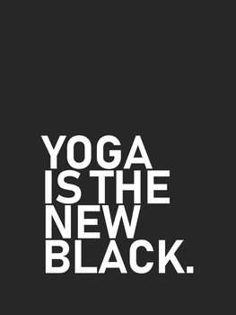 Ilustrácia yoga is the new black