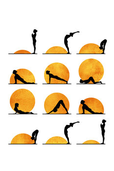 Illustration Yoga Sun