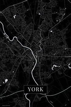 Stadtkarte York black