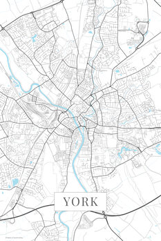 Stadtkarte York white
