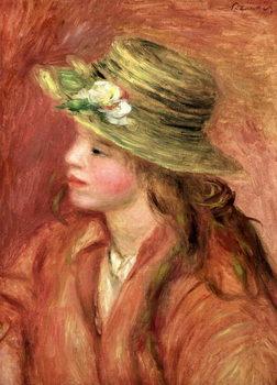 Young Girl in a Straw Hat, c.1908 Kunstdruk