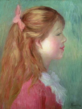 Young girl with Long hair in profile, 1890 Kunstdruck
