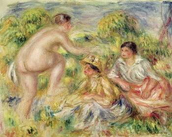 Young Girls in the Countryside, 1916 Reproduction de Tableau