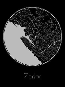 Mapa de Zadar