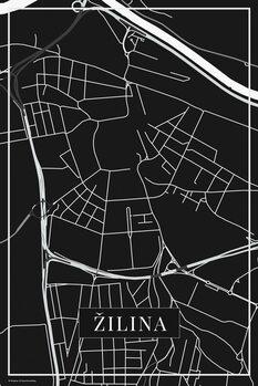 Mapa de Žilina black