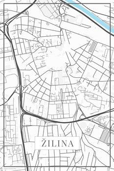 Mapa de Žilina white