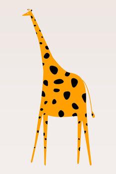 Ilustrare 21 Cute Yellow Giraffe