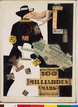 Umelecká tlač 25 Pleite Geier (The 25 vultures of Bankruptcy) Collage