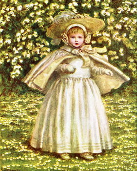'A baby in white'  by Kate Greenaway Kunsttryk