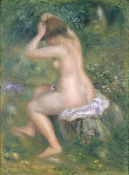 Reproducción de arte  A Bather, c.1885-90