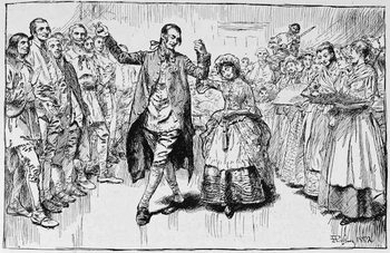 Reproducción de arte  A Kentucky Wedding, illustration from 'Building the Nation' by Charles Carleton Coffin, 1883