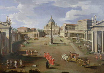 Obrazová reprodukce A View of St. Peter's in Rome