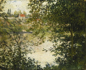 A View Through the Trees of La Grande Jatte Island; A Travers les Arbres, Ile de la Grande Jatte, 1878 Kunstdruk