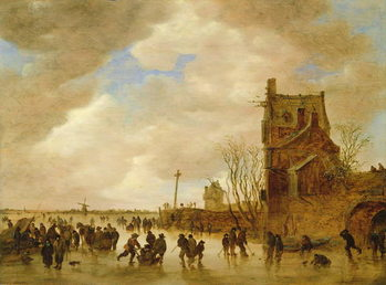 A Winter Skating Scene Kunstdruk
