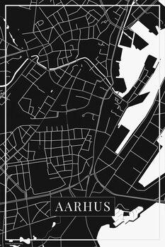 Mapa Aarhus black