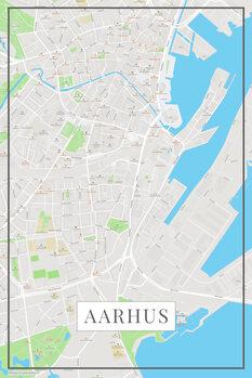 Mapa Aarhus color