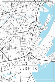 Mapa Aarhus white
