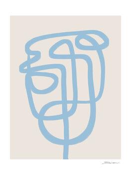 Illustrazione Abstract face line