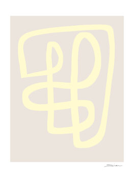 Ilustrare Abstract yellow line
